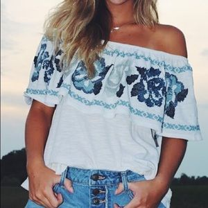 Free people off the shoulder blouse